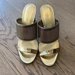 Enzo Angiolini Gold Heels worn once size 37